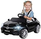 Actionbikes Motors Kinder Elektroauto Mercedes Benz Amg GLA45 - Lizenziert - Rc 2,4 Ghz Fernbedienung - Softstart - SD-Karte - USB - MP3 - Elektro Auto für Kinder ab 3 Jahre (GLA45 Schwarz)