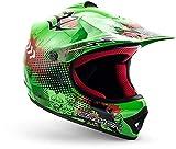 """armor HELMETS® AKC-49 """"Green"""" · Kinder Cross-Helm · Motorrad-Helm MX Cross-Helm MTB BMX Cross-Bike Downhill Off-Road Enduro-Helm Moto-Cross Sport · DOT Schnellverschluss Tasche M (55-56cm)"""