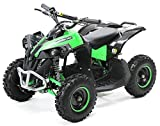 Actionbikes Motors Mini Kinder Elektro Quad ATV RENEBLADE 1000 Watt Pocket Quad - Original Saefty Touch Fußschalter - 36 Volt - Kinder Pocketquad (Schwarz/Grün)